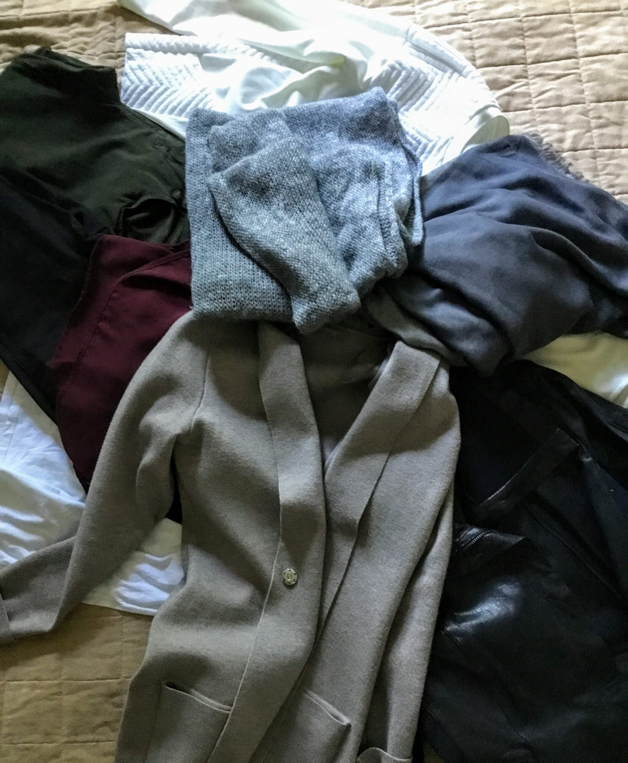 mix of fall clothes