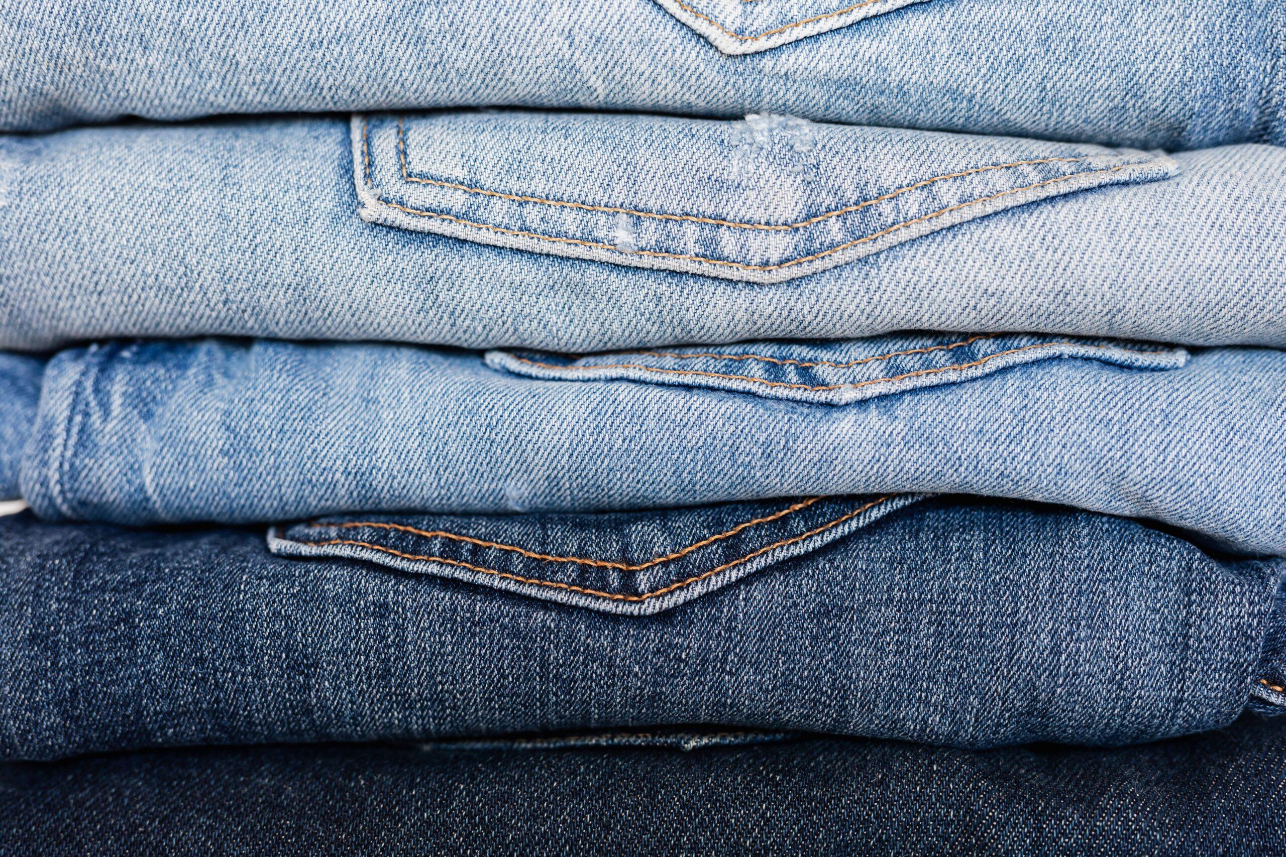 folded dark jeans